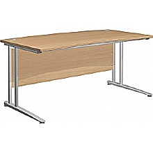 Arena Contract Double Wave Bow Cantilever Desk