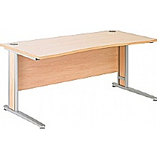 Arena Contract Plus Double Wave Bow Cantilever Desk