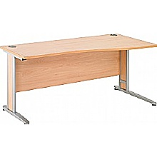 Arena Contract Plus Shallow Wave Cantilever Desk
