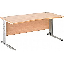 Arena Excecutive Double Wave Cantilever Desk