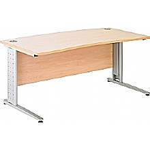 Arena Excecutive Double Wave Bow Cantilever Desk