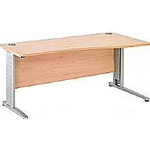 Arena Executive Shallow Wave Cantilever Desk