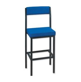High Stool With Backrest