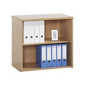 Next Day System Desk High Bookcase
