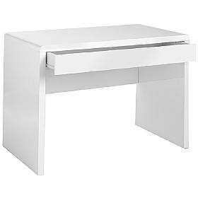Luxor White Rectangular Desk