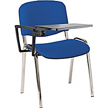 ISO Chrome Frame Conference Chair With Writing Tablet (Pack of 4)