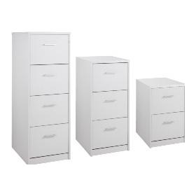 Next Day White Index Filing Cabinets