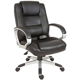 Rome Executive Black Leather Massage Chair