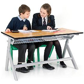 Titan Height Adjustable Double Classroom Table
