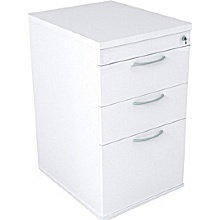 Optima White Desk High Pedestal