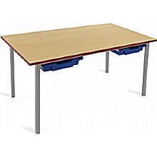 Scholar Light Grey Frame Classroom Tables With Tra