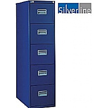 Silverline 5 Drawer Filing Cabinet