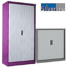 Silverline Two Tone Kontrax Tambour Cupboards