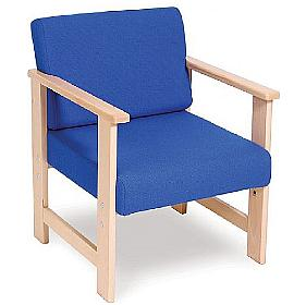 Heavy Duty Solid Beech Low Reception armchair