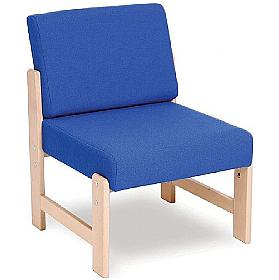 Heavy Duty Solid Beech Low Reception Chair