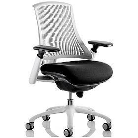 Flex White Ergonomic Task Chair