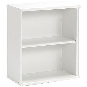 Optima White Desk High Bookcase