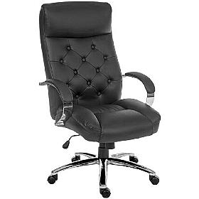 Traditional Leather Faced Executive Chair
