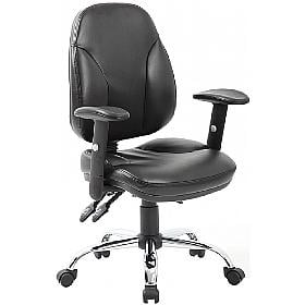 Comfort Ergonomic Leather Operator Chair