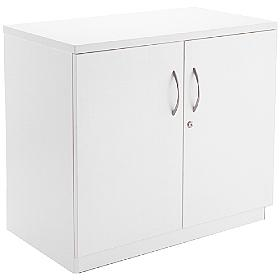 Next Day White Contract Desk High Cupboard