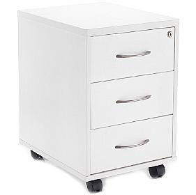 Next Day White Contract Mobile Pedestals
