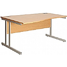 Elgin Wave Cantilever Desk