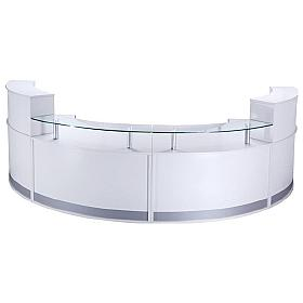 Haddon 4 Section Curved Reception Desk Bundle Deal
