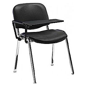 Fleet Vinyl Chrome Frame Visitor chair with Writing Tablet (Pack of 4 Chairs)