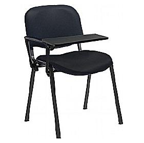 Fleet Vinyl Black Frame Visitor chair with Wooden