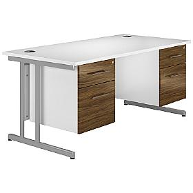 Next Day Prime Cantilever Rectangular Desks With D