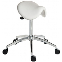 White Saddle stool
