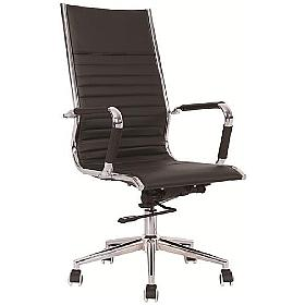Darby High Back Leather Office Chair