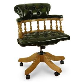 Antique Replica Captains Desk Chair