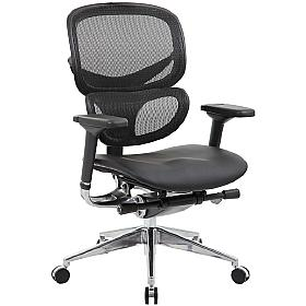 Ergo-Mesh 24 Hour Office Chair With Leather Seat