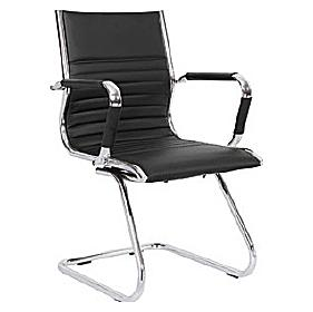 Darby Medium Back Leather Faced Visitor Chair