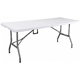 Next Day Poly Rectangular Fold-in-Half Table
