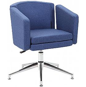 Zeta Fabric Swivel Chair supplied with Castors and