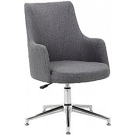 Lux Fabric Swivel Chair