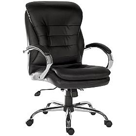 Goliath Black Leather Manager Chair
