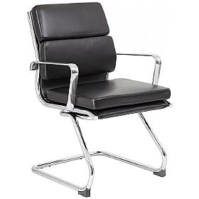 Tanya Leather Cantilever Visitor Chair