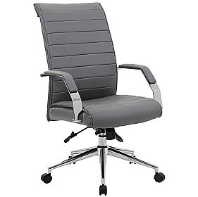 Aero High Back Leather Manager Chair