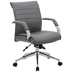 Aero Medium Back Leather Manager Chair