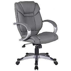 Bailey Grey Leather Executive Chair