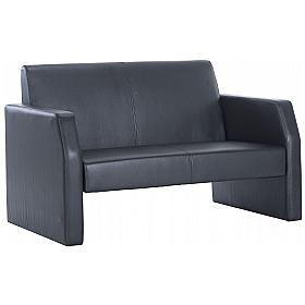 Casper Leather Reception Two Seater