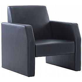 Casper Leather Reception Armchair