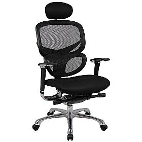 Active 24hr Ergonomic Mesh Back With Air Mesh Seat  (With Headrest)