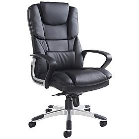 Airgo High Back Leather Managers Chair