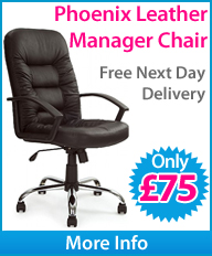 Phoenix Soft Touch Leather Manager Chair