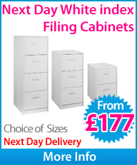 Next Day Index White Filing Cabinets