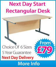 Next Day Eco Rectangular Desk